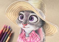 An oldie tonight of Judy Hopps for Working on designing christmas cards and finishing up commissions, so not much time to draw the last couple of days. Disney Sketches, Disney Drawings, Cartoon Drawings, Art Sketches, Art Drawings, Bird Pencil Drawing, Color Pencil Art, Realistic Drawings, Colorful Drawings