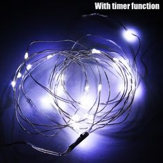 Zitrades 40 LED 13FT Battery Operated String Lights X'mas Wedding Party Holiday Decor Light, White