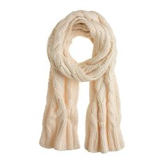 Cable-knit scarf - Womens - Gift Guide - J.Crew