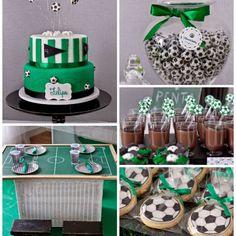 Fiesta de cumpleaños con temática de fútbol