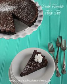 chocolate and more double chocolate fudge tart double chocolate fudge ...