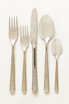 It feels a bit old lady to me and I like that about it. Ingrid Flatware #anthropologie