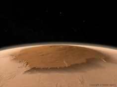 Where is the highest mountain? It's on mars. The super-giant volcano called Olympus Mons (Latin for mount Olympus) is the largest single mountain in the solar system and, at the moment, the know universe. At 14 miles (22 km) high and 388 miles (624 km) across, it is almost three times as high as mount Everest, and so wide it's base would cover Arizona, or the whole of Britain.