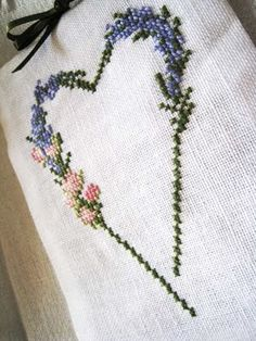 Lavender Cross Stitch with chart