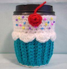 So terrifically cute!  Cupcake coffee cup cozy