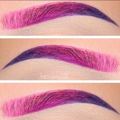 Pink to Purple Eyebrows
