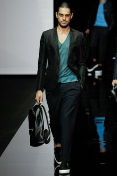 Pleated pants spotted  Emporio Armani   Spring 2015 Menswear Collection   Style.com