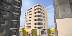 Minecraft City Buildings, Multi Story Building, Twitter, Minecraft Construction, Minecraft Architecture, Minecraft Houses