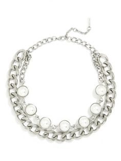 Pearls Orb #Collar by Atlantic Pacific for Baublebar. #silver #necklace
