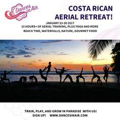 Big Group, Thai Massage, Aerial Silks, Vegetarian Meals, Running Away, Waterfalls, Gourmet Recipes, Costa Rica, Serenity