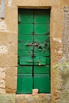 An old wooden door in Tuscany, Italy  - Knock Knock.