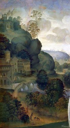 Copy after Leonardo da Vinci Leda and the Swan (detail)
