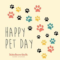 Happy #NationalPetDay 🐶🐱🐰🐷🐵🐥🐢🐠🐾 Share a picture of your pet with the #HitchSwitch box for a chance to be featured on our #Instagram! #namechange #claimyourname
