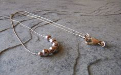 Sterling silver beaded necklace by JulieEllisDesigns
