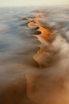 An aerial view of Namib Desert dunes  © Hugh Pearson