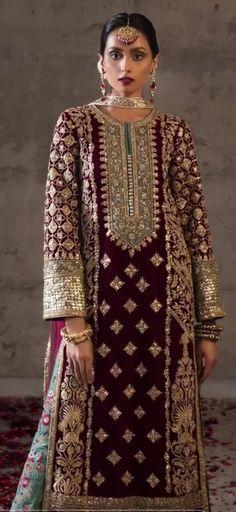 Shadi Dresses, Pakistani Formal Dresses, Pakistani Fashion Party Wear, Pakistani Wedding Outfits, Pakistani Bridal Dresses, Indian Fashion Dresses, Pakistani Dress Design, Indian Designer Outfits, Indian Outfits