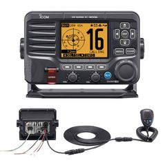 Icom M506 VHF Fixed Mount w/Rear Mic, AIS & NMEA 0183/2000® - Black - https://www.boatpartsforless.com/shop/icom-m506-vhf-fixed-mount-wrear-mic-ais-black/