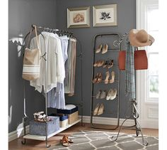 Charming New York Closet Clothes Rack | Pottery Barn