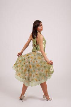 Argentine Tango Dance Skirt  by TheGiftofDance,