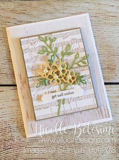 Stampin' Up! Petals & More Get Well Card   Ellocin Designs