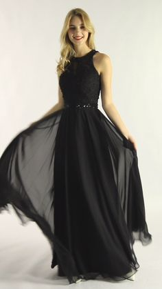 black dress Long - Say Hey to Classic Black Evening Dress Liz Open Back Chiffon Beaded Waistband Dress Black Long Gown Black Party Dresses, Dresses Short, Black Evening Dresses, Black Wedding Dresses, Prom Party Dresses, Black Weddings, Wedding Black, Chiffon Evening Dresses, Bridesmaid Dresses