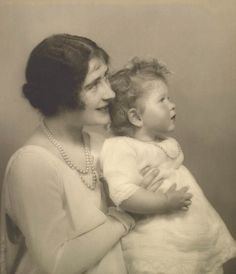 The Duchess of York with Princess Elizabeth, 30 June 1927 by Marcus Adams ,The photograph was taken just three days after The Duke and Duchess of York returned from a six-month tour of Australia and New Zealand. Hm The Queen, Royal Queen, Her Majesty The Queen, Queen Mary, Edinburgh, Windsor, Prinz Philip, Lady Elizabeth, Queen Elizabeth