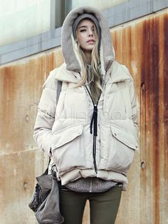 [$59.99] Casual Down Jacket for Women