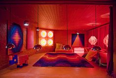 room in the home of verner pantone collector