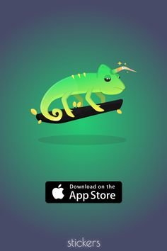 Chameleons are freaking cool! Download the best sticker pack available on the App Store!