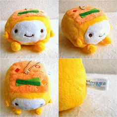 This is so cute hannari tofu plush! This is called pickles hannari tofu. So kawaii!! This is rare goods which is not available on shopping mall or any online store. We have only 1 in stock. There is no tag because this is how we got it as a game center prize.    8cm x 6.5cm x 8cm or 3.1inch x 2.6ich x 3.1inch.