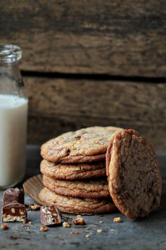4himglory: Snickers Cookies   My Baking Addiction