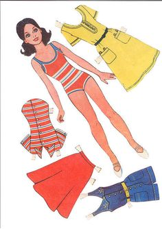 "Mujeres - Бумажные куклы из журналов*1500 free paper dolls at Arielle Gabriel""s The International Paper Doll Society and free Chinese Japanese paper dolls at The China Adventures of Arielle Gabriel *"