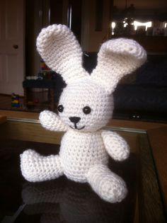 Lovely little crochet bunny Christmas pressie