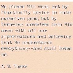 A. W. Tozer quote