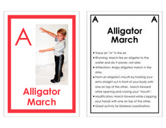 The ABC's of Movement flash cards Fun way to learn ABCs while incorporating movement and exercise