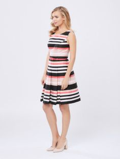 Kirby Stripe Dress Sophisticated Dress, Review Fashion, Dresses For Work, Summer Dresses, Review Dresses, Stripe Dress, Lace Dress, Feminine, Chic