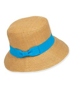 80147a57f93 Turquoise Paper Braid Bucket Hat  zulily  zulilyfinds