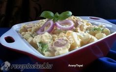 Krumplisaláta gazdagon recept fotóval