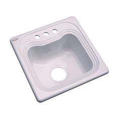 Oxford Drop-In Acrylic 16 in. 3-Hole Single Bowl Kitchen Sink in Innocent Blush