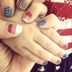 How about a Mommy and Me jamicure with Jamberry nail wraps for Memorial Day or 4th of July? Shop them at www.RedheadManicures.com !