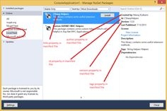 Install The NuGet Package through local NuGet feed