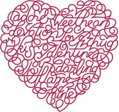 Can you find joy in this valentine?  How about hug?  And love?  I found a dozen words (two go together).