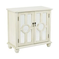 Office Star Kendra Storage Console in Antique Beige Finish