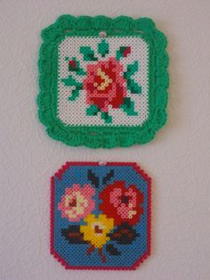 """Flower""  Hama perler and crochet  by petite molly"