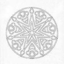 Mandala 160 - Coloring page - MANDALA coloring pages - Mandalas for ADVANCED