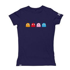 Pacman tee - make with freezer paper stencil and googly eyes for the kids