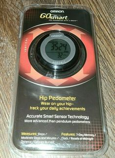 Pedometer Hip Omron Go Smart HJ-151 Accurate Smart Sensor Technology New - Read #Omron Aerobics, Fast Weight Loss, Burn Calories, New Technology, Day, Rapid Weight Loss, Losing Weight Fast, Future Tech, Quick Weight Loss