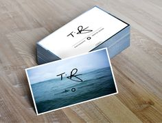 Personal Identity // Business Cards // Mock Ups by Tyhe Reading, via Behance