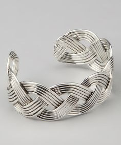 Take a look at this Silver Braided Nantucket Cuff by Elly Preston Jewelry on #zulily today!