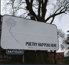 idea for April: National Poetry Month window display